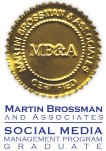Certified Social Media Manager Graduate Badge by Martin Brossman and Associates